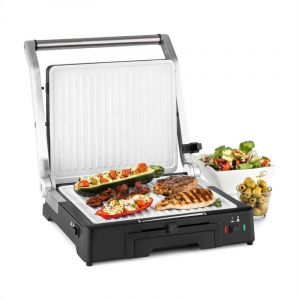 Klarstein Burgermeister - Barbecue 3 en 1 grill de table presse à panini 2000 Watts
