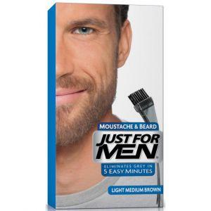 Just for Men Coloration pour barbe châtain moyen clair