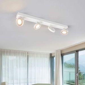 Philips Myliving Clockwork Plafonnier LED 4 foyers, blanc
