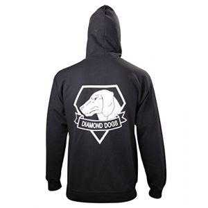Metal Gear Solid - Black Diamond Dogs Zipper Hoodie - Medium