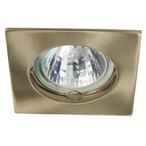 V-TAC NAVI CTXDS porte-lampe carré SPOT GU5.3 encastré laiton satiné SKU-CTXDS10AB53 -