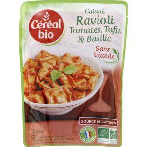 Céréal bio Cuisiné Ravioli tomates, tofu & basilic bio