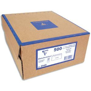 Clairefontaine 500 enveloppes 16,2 x 22,9 cm avec fenêtre 4,5 x 10 cm (80 g)