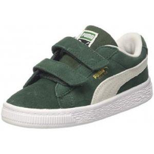 Puma Suede Classic V Inf, Sneakers Basses Mixte Enfant, Vert (Pineneedle White), 20 EU