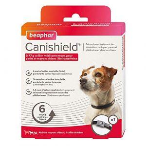 Beaphar Collier antiparasitaire Canishield pour chien - collier de 48 cm pour petits et moyens chiens