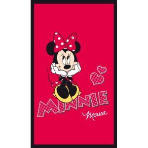39465 - Drap de bain Minnie Oh My ! en velours (70 x 120 cm)