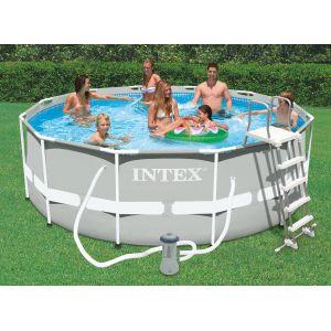 Intex 28226fr piscine hors sol tubulaire ronde metal - Rechauffeur piscine hors sol intex ...