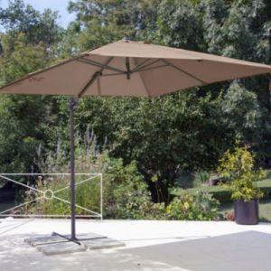 Proloisirs Parasol déporté à manivelle carré 2,5 m taupe