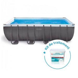 Intex Pack Piscine tubulaire Ultra Silver 5,49 x 2,74 x 1,32 m + Traitement pour piscines 20 m³