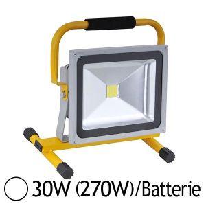 Vision-El Projecteur LED portable 30W (270W) orientable IP65 avec batterie