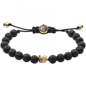 Diesel Bracelets Bracelet en Cuir Noir Homme Noir - Taille Unique