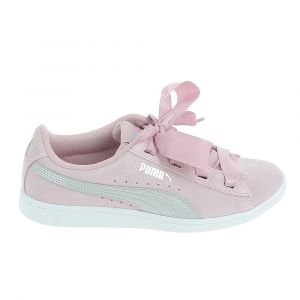 Puma Vikky Ribbon Jr, Sneakers Basses Fille, Rose (Pale Pink Silver), 38 EU