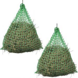 VidaXL Filet à Foin 2 pcs Rond 1 x 1 m PP Filet à d'alimentation pour Cheveux poneys
