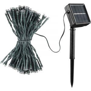 Guirlande solaire 100 LED 12m Jaune