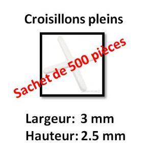 Image de Far Tools 500 croisillons pleins (largeur 3 mm / hauteur 2.5 mm)
