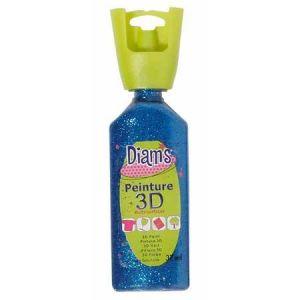 Diam's Peinture - 3D - Bleu Nuit Pailleté - 37 ml