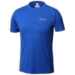 Columbia Zero Rules Chemise manches courtes Homme, azul XL T-shirts techniques
