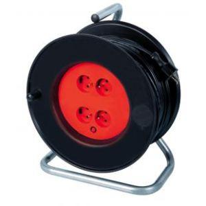 Ribitech PREEB25315 - Enrouleur électrique 4 prises 25m
