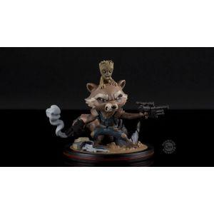 Abysse Corp Figurine Q-Fig Marvel - Rocket & Groot