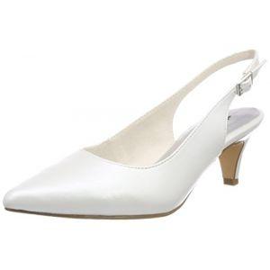 Tamaris 29607, Sandales Bride Arrière Femme, Blanc (White), 35 EU