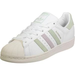 Adidas Superstar W, Sneakers Basses Femme, Blanc (Ftwwht/Lingrn/Ice Pur), 36 2/3 EU