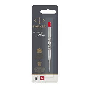 Parker Quinkflow Mine M rouge stylo à bille (Blister)