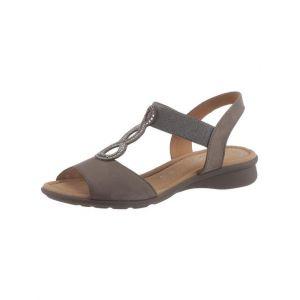 Gabor 26.065 Femme,Sandale à lanières,Sandales,Sandales à lanières,Chaussures d'été,Sandales d'été,Confortable,Plat,Fumo,36 EU / 3.5 UK