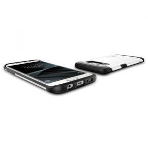 Spigen Coque Slim Armor Galaxy S7 Edge Shimmery White