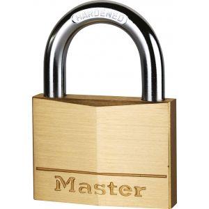Master Lock Cadenas laiton massif Masterlock - Anse 11 mm - Longueur 20 mm -