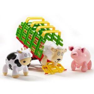 Falk Remorque Wagon Maxi + 3 animaux de la ferme gonflables
