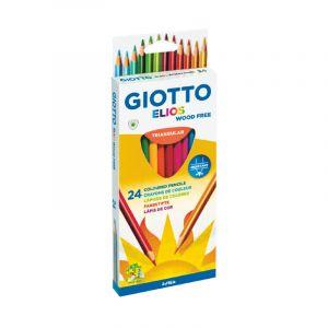 Image de Giotto Crayons de couleurs Elios Wood Free, Etui de 24 crayons