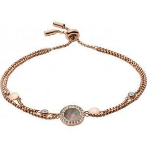 Fossil Bracelet Bijoux JF02951791 - Bracelet Acier Doré Rose Femme