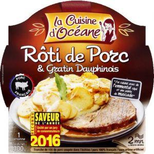 La Cuisine d'Océane Roti de porc & gratin dauphinois - La barquette micro-ondable de 300g