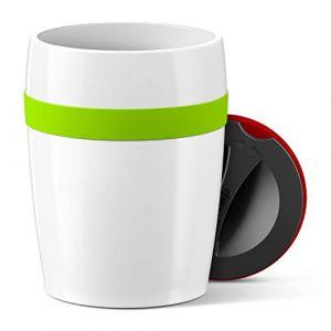 Emsa Travel Cup Ceramic Tasse céramique N2060200, Silicone, Vert, 11,2 cm