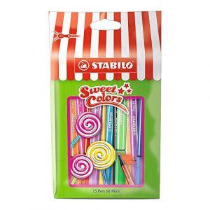 Stabilo Sachet Sweet Colors de 15 feutres pointe moyenne - Pen 68 Mini Édition Limitée