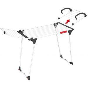Vileda Séchoir sur pied 18 m avec aile détachable - Premium 2 en 1