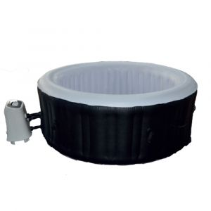 Water'clip Cocooning Water - Spa gonflable rond Ø180cm 3-4 places - 120 jets - Filtrage et chauffage - 800L - Noir et Blanc - Sofia - Noir