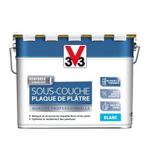 V33 Sous-couche plaque de plâtre blanc mat 5 litres