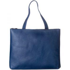 Dudu Sac porté épaule pour femme en Cuir souple Design Essentiel rectangulaire avec fermeture éclair Bleu