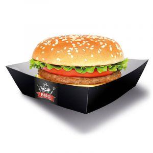 4 Boîtes pour Hamburger BBQ Party 13 x 13 cm Taille unique