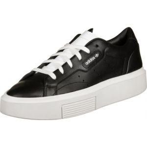 Image de Adidas Baskets basses Sleek Super en cuir Noir Originals