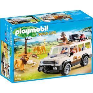 Playmobil 6798 Wild Life - Aventuriers avec 4x4 et Couple de Lions