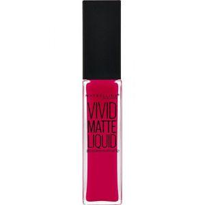Maybelline Vivid Matte Liquid 30 Fuchsia Ecstasy - Laque à lèvres Color Sensational