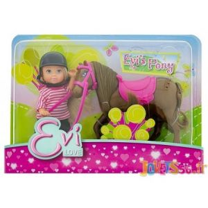 Simba Toys Poupée Evi Love et son poney