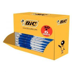 Bic Pack de 36 Atlantis bleu rétractables dont 6 offerts