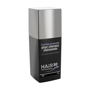 Hair 30 Professionnel Solution pour cheveux clairsemés Noir