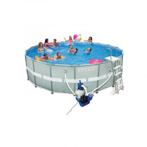 Intex Piscine tubulaire Ultra XTR Frame ronde 5,49 x 1,32 m