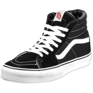 Vans Sk8 Hi chaussures noir blanc 37 EU