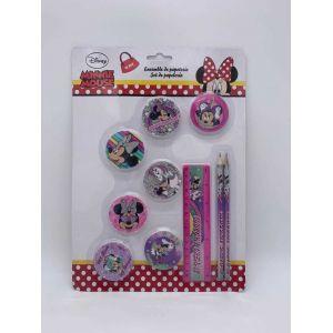 Set de papeterie 10 pcs Minnie Mouse Unicorn