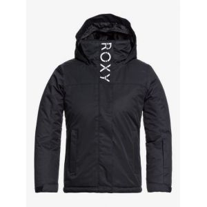 Roxy Galaxy-Veste de Snow pour Fille 8-16 Ski, True Black, FR : M (Taille Fabricant : 10/M)